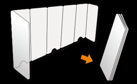 アコーディオン 透明PETパーテーション